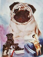 "Premier Designs "" Pugs"" decorative 28 x 40 Seasonal dogs house flag"