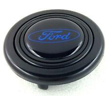 Ford steering wheel horn push button, blue logo. Fits Momo Sparco OMP Nardi etc