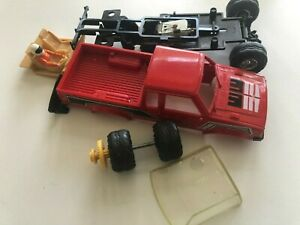 Scalextric C329 Datsun Pick up Red Blue Restoration Parts Repair