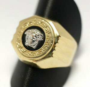 Medusa Goldring Gold 585 Ring Herren