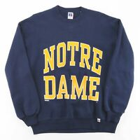 Vintage RUSSELL ATHLETIC Nothre Dame Blue American Crew Neck Sweatshirt Mens L