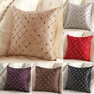 Casual Diamond Scatter Cushion Cover Plaid Waist Throw Pillow Cases Car Decor