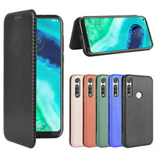 For Motorola Moto G Fast Cover Magnetic Carbon Fiber Flip Leather Wallet Case
