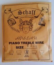 Schaff Roslau Piano Music Treble Wire Size 14-1/2 .034 1/3 Lb Coil 109' w Brake