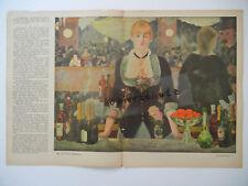 ORIGINAL Blatt Zeitschrift JUGEND 1911 - Edouard Manet - Weisgerber (B324)