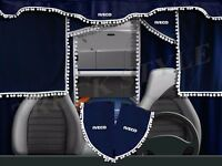IVECO Curtains FULL SET EUROCARGO EUROTECH STRALIS ROUND CAB PELMETS 7 PIECES
