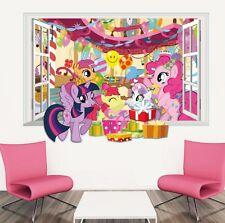 3D Window My LittleHorse Wall Sticker Mural Decal for Kid Child Room Decor Vinyl