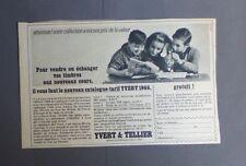 PUBLICITE ANCIEN ADVERT CLIPPING 81017 NOUVEAU CATALOGUE TARIF YVERT 1966 TIMBRE