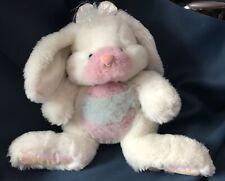 Mattel Ice Tickle Bunny Pink Tummy White Plush Stuffed Animal Vintage 1993