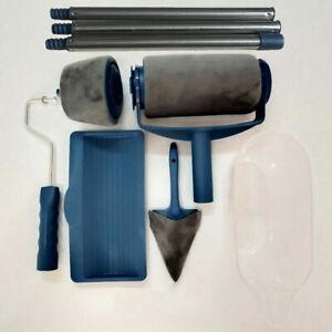 Set of 8 Multifunctional Home Use Wall Decorative Paint Roller Brush Tool Kit UK