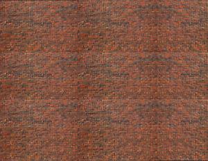 S Scale Brick Model Train Scenery Sheets –5 Seamless 8.5x11 Dark Calico