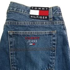 Vintage Tommy Hilfiger Jeans 38 x 30 Spell Out Flag Mens Tommy Jeans Made USA