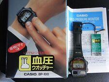 RARE  CASIO bp-100 BLOODPRESSURE digitalwatch black