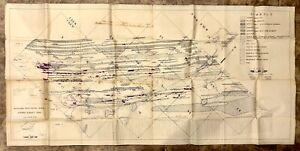 Vintage 1938 C.A. Lamey Michigan U.P Geological Copper Survey Elm River Area Map