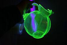 VINTAGE CAMBRIDGE GLASS BALL JUG TILT PITCHER 3400 APPLE GREEN CRYSTAL ICE LIP