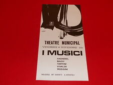 COLL.J. LE BOURHIS AFFICHES / CONCERT I MUSICI 1968 ANGERS AMCA