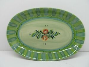 "Gail Pittman Provence Oval Serving Platter Green  14"" Pristine condition"