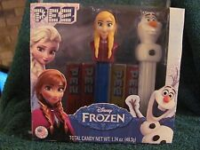 Disney Frozen 2015 PEZ Anna and Olaf New Sealed Made in USA Candy Pez Packs