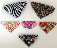 Dog Bandana Collar- Adjustable Cat Pet Neck Tie - 3 Sizes & 6 Designs Available