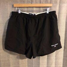 VTG 90s Polo Sport Ralph Lauren Black Swim Trunks Swimsuit Shorts XXL