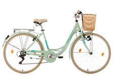 "Damen Cityrad 28"" Mit Korb Citybike 6 Gänge Cantaloupe Grün KS Cycling 309C"