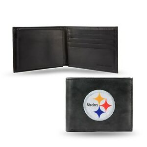 Pittsburgh Steelers NFL Embroidered Leather Billfold Bi-fold Wallet ~ New