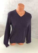 RALPH LAUREN Purple Wool Sweater V Neck Women's Small