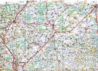 21 Beaune Chalon-Saône Dole 1968 carte routière orig. (partie) Seurre autoroutes