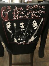 Vtg 90s G3 Satriani Johnson Vai Men's 2 Sided T Shirt L Rock Guitar