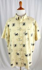 Woolrich XXL 2XL Mens Shirt Short Sleeve Button Front Dogs Retrievers Hunting