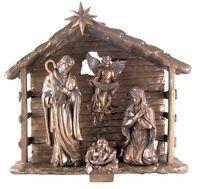 "13"" Nativity Scene 5 Piece Holy Family Angel Jesus Statue Figurine Gift P9130"