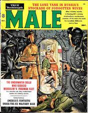 MALE MAGAZINE OCTOBER 1960 * SANDY KEYES * KUNSTLER POPP NAPPI ART * PENAL GIRLS