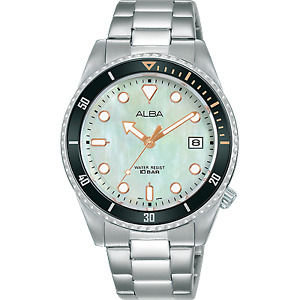 Alba Active Women's Stainless Steel Watch with Mother of Pearl Dial AG8L49X1