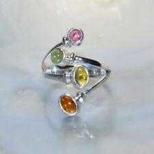 Ringe mit Edelsteinen für Damen (18,1 mm Ø) Turmalin echten Innenvolumen