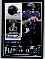 2015 Contenders Playoff Ticket Silver Joe Flacco #d /199 Prizm Refractor Ravens