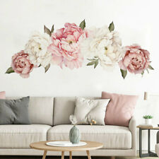 Peony Rose Flower Blossom Wall Stickers Home Living Room Decor Mural Decal