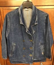 Guess Women S Jean Jacket Double Breasted Denim USA Made 10826