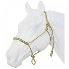 Tough-1 Poly Rope Tied Halter with Crystal Accents - NEON RAINBOW - HORSE