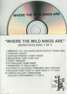 Where The Wild Nings Are UK Fierce Panda promo test 2-CD Idlewild Embrace