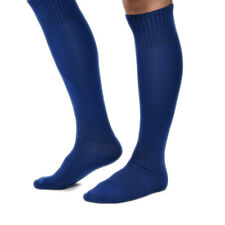 Football Plain Long Socks Sport Knee High Hockey Rugby Mens Womens Colors EW