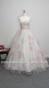 Veromia floral wedding dress UK size 10/12 - check measurements