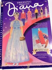 Dressing Princess Diana Cut Out Doll Bluebird Toys