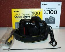 Nikon D100 6.1 MP Digital SLR Camera - Black (Body Only) W/PPWK ~111