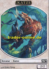 2x Spielstein - Katze (Token - Cat) Magic 2014 M14 Magic