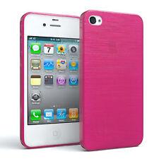 Schutz hülle für Apple iPhone 4 / 4s Brushed Cover Handy Case Pink