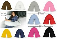V Shaped Pillow With Case Extra Filled Support for Pregnancy Maternity Nursing