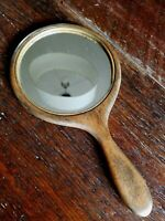 Vintage Hand Mirror ~ Carved Wood ~ Lovely