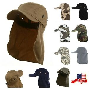 Roofing Cap Camping Hiking Fishing  Garden Ear Flap Sun Neck Cover Camo Army Hat