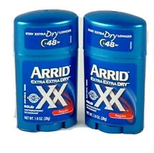 Arrid Extra Extra Dry Solid Deodorant Antiperspirant 1 Ounce Regular 2 Pack