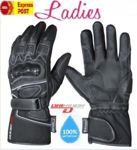 CLEARANCE! NEW DRIRIDER Storm 2 Female Motorcycle gloves Ladies XS Waterproof